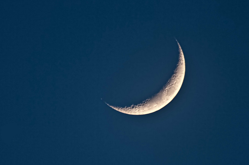 The Moon, 17% illuminated.