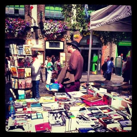 Saturday Book Market on Temple Bar Square