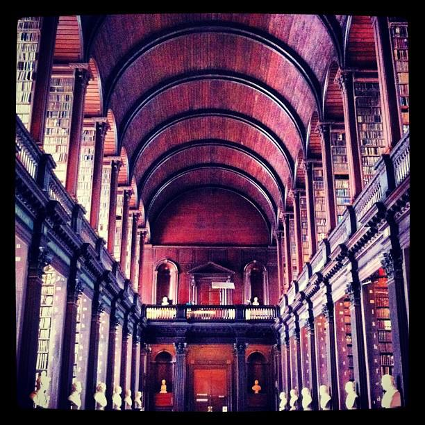 The Long Room, the Old Library, Trinity College.